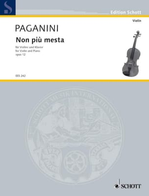 Niccolò Paganini - Non piu mesta op. 12 (Kreisler) - Partition - di-arezzo.fr