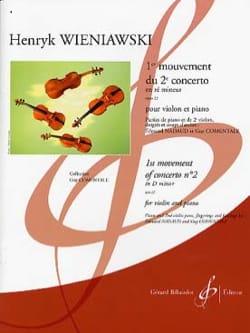 1er solo du Concerto n° 2 WIENAWSKI Partition Violon - laflutedepan