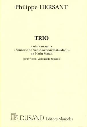 Philippe Hersant - Trio –Parties - Partition - di-arezzo.fr