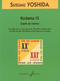 Kodama 3 -Flûte - Susumu Yoshida - Partition - laflutedepan.com