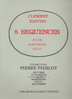 5 Séquences - Clément Zaffini - Partition - laflutedepan.com