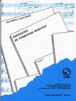 Alain Zardé - Exercices de FM – Débutant 1 - Partition - di-arezzo.fr