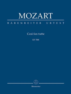 Cosi Fan Tutte - Conducteur MOZART Partition laflutedepan