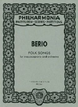 Luciano Berio - Folk Songs - mezzosoprano and orchestra 1973 - Score - Sheet Music - di-arezzo.co.uk