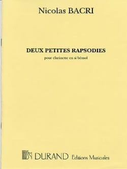 Nicolas Bacri - 2 Little Rhapsodies - Sheet Music - di-arezzo.com