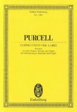 Henry Purcell - Singt, singlet dem Herrn - Partition - di-arezzo.com