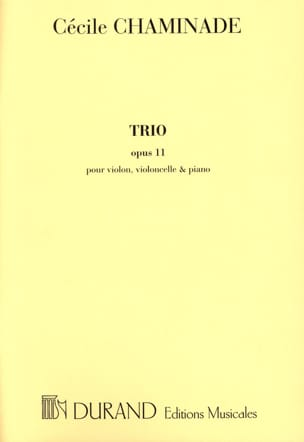 Trio op. 11 -Parties Cécile Chaminade Partition Trios - laflutedepan