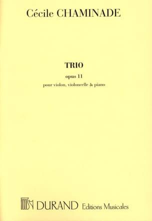 Cécile Chaminade - Trio op. 11 –Parties - Partition - di-arezzo.fr