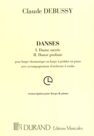 DEBUSSY - Sacred and Profane Dances - Sheet Music - di-arezzo.co.uk