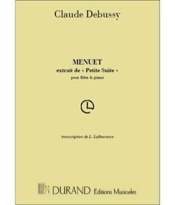 Claude Debussy - Menuet - Partition - di-arezzo.fr