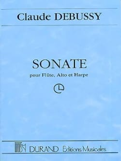 Sonate DEBUSSY Partition Grand format - laflutedepan