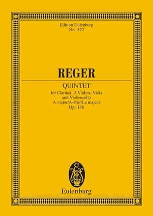 Max Reger - Quintett A-Dur, Op. 146 - Partition - di-arezzo.fr