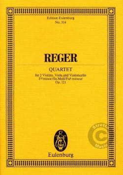 Max Reger - Streichquartett fis-moll, op. 121 -Partitur - Partition - di-arezzo.fr