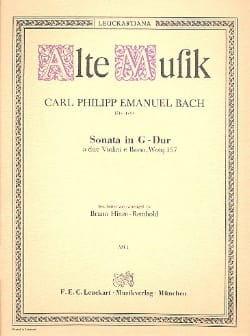 Sonata G-Dur a 2 violini e basso Wq 157 - laflutedepan.com