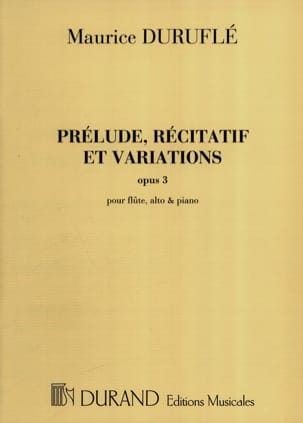 Maurice Duruflé - Recitative Prelude and Variations op. 3 - Sheet Music - di-arezzo.com