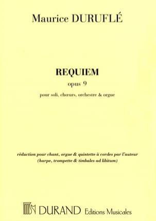Maurice Duruflé - Requiem orchestre réduit - Conducteur - Partition - di-arezzo.fr