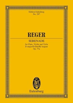 Trio D-Dur, op. 77a - Partitur Max Reger Partition laflutedepan
