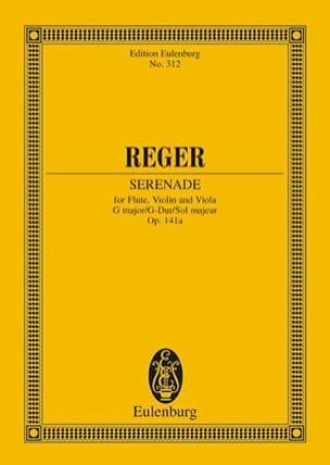 Trio G-Dur, op. 141a G-Dur Max Reger Partition laflutedepan