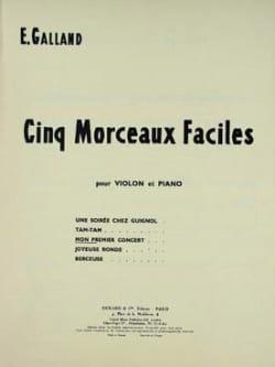 E. Galland - Mon premier concert - Partition - di-arezzo.fr