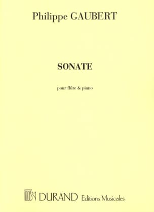 Philippe Gaubert - Sonate n° 1 - Flute et piano - Partition - di-arezzo.fr