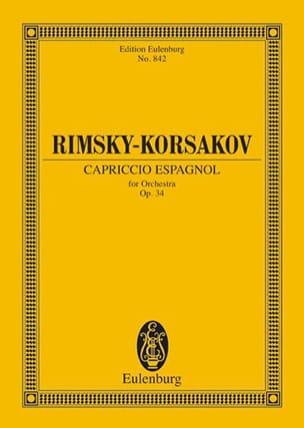 Capriccio espagnol, op. 34 - Partitur RIMSKY-KORSAKOV laflutedepan