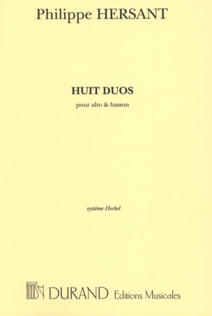 Philippe Hersant - 8 Duos - Alto and Basson - Sheet Music - di-arezzo.com