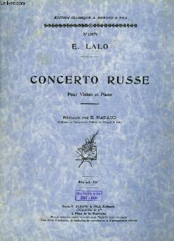 Edouard Lalo - Concerto russe op. 29 - Partition - di-arezzo.fr