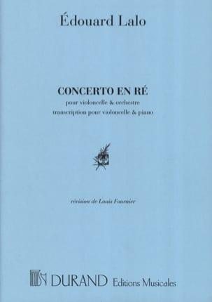 Edouard Lalo - Concerto in C Minor for Cello - Sheet Music - di-arezzo.co.uk
