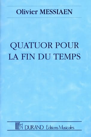 Olivier Messiaen - Quartet for the End of Time - Partition - di-arezzo.com
