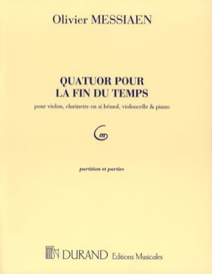 Quatuor pour la fin du Temps - Parties MESSIAEN Partition laflutedepan
