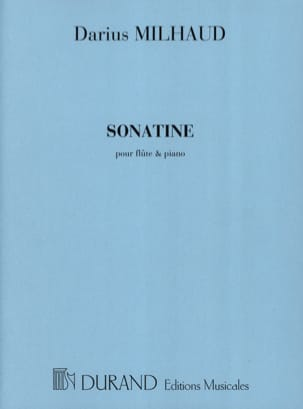 Darius Milhaud - Sonatine - Flute - Sheet Music - di-arezzo.co.uk