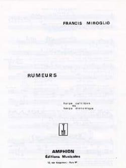 Miroglio - Rumeurs - Partition - di-arezzo.fr