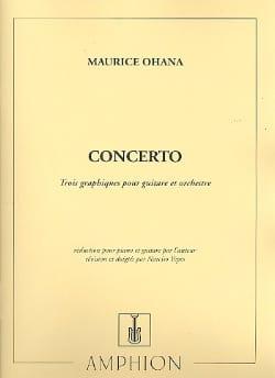 Maurice Ohana - Concerto pour guitare - Partition - di-arezzo.fr