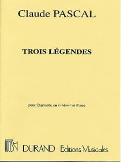 Claude Pascal - 3 Legends - Sheet Music - di-arezzo.co.uk