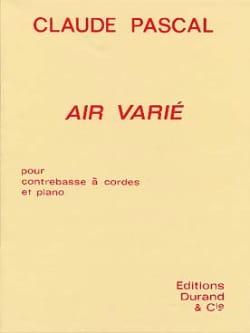 Claude Pascal - Air varié - Partition - di-arezzo.fr