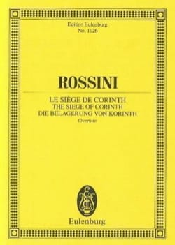 Gioacchino Rossini - Die Belagerung von Korinth - Partition - di-arezzo.fr