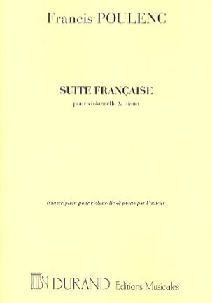 Francis Poulenc - French Suite - Cello piano - Sheet Music - di-arezzo.co.uk