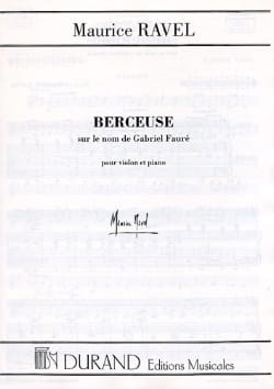 Maurice Ravel - Lullaby on the name of Fauré - Sheet Music - di-arezzo.com