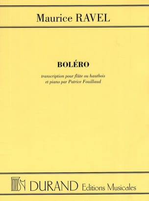 Maurice Ravel - Bolero - Flute or oboe piano - Sheet Music - di-arezzo.co.uk