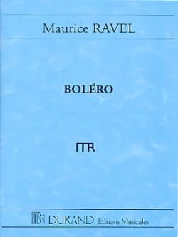 Maurice Ravel - Boléro – Conducteur - Partition - di-arezzo.fr