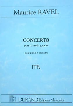 Maurice Ravel - Concerto for the left hand - Partition - di-arezzo.com