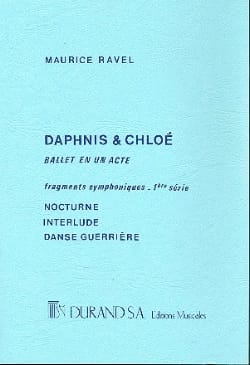 Daphnis et Chloé 1ère Suite - Conducteur RAVEL Partition laflutedepan