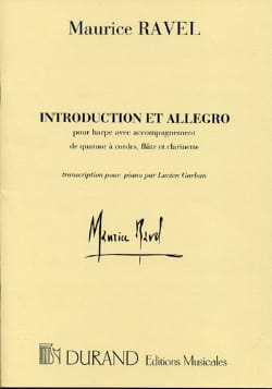 Introduction et Allegro - Harpe et piano RAVEL Partition laflutedepan
