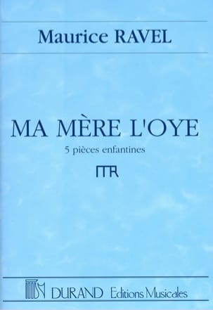 Ma Mère L'Oye RAVEL Partition Grand format - laflutedepan