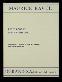 Maurice Ravel - Petit Poucet - Flute and Piano - Sheet Music - di-arezzo.co.uk