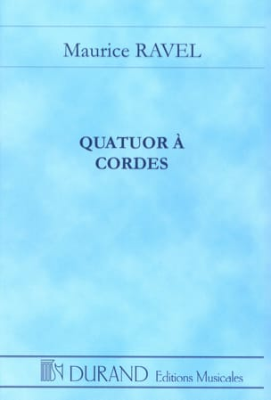 Quatuor à cordes - Conducteur RAVEL Partition laflutedepan