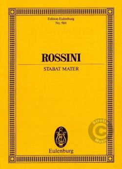 Gioacchino Rossini - Stabat Mater – Partitur - Partition - di-arezzo.fr