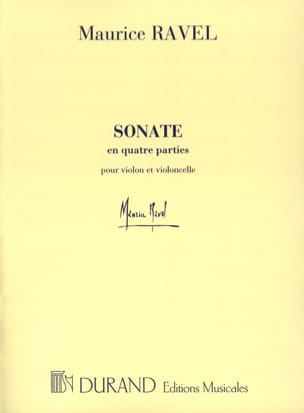 Maurice Ravel - Sonate en Quatre Parties - Partition - di-arezzo.fr