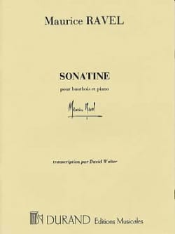 Maurice Ravel - Sonatine - oboe and piano - Sheet Music - di-arezzo.co.uk