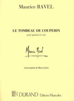 Maurice Ravel - The Tomb of Couperin - Woodwind Quintet - Conductor - Sheet Music - di-arezzo.co.uk